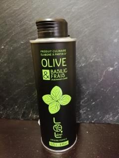 huile d'olive française et basilic frais français