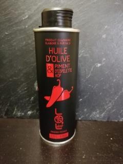 huile d'olive piment d'espelette aop (france