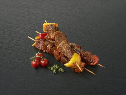 Brochette de boeuf marinée Légumes épicés